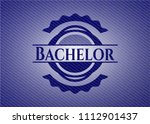 bachelor emblem with jean... | Shutterstock .eps vector #1112901437