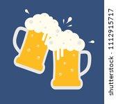 cheers beer glasses  two glass...   Shutterstock .eps vector #1112915717