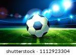 soccer ball and football arena. ...   Shutterstock .eps vector #1112923304