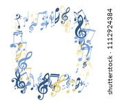 square frame of musical notes....   Shutterstock .eps vector #1112924384