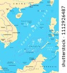 south china sea islands ... | Shutterstock .eps vector #1112926487