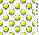 seamless pattern with tennis... | Shutterstock .eps vector #1112928287