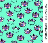 abstract seamless sport eyes... | Shutterstock . vector #1112932457