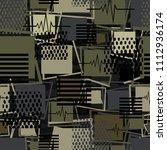 abstract seamless sport pattern ... | Shutterstock . vector #1112936174