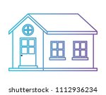 exterior house isolated icon | Shutterstock .eps vector #1112936234