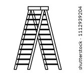 stepladder tool isolated icon | Shutterstock .eps vector #1112939204