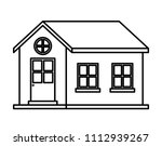 exterior house isolated icon | Shutterstock .eps vector #1112939267