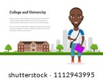 picture of student guy... | Shutterstock .eps vector #1112943995