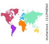 world map vector | Shutterstock .eps vector #1112948564