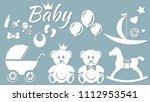 set template for laser cutting... | Shutterstock .eps vector #1112953541