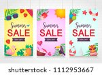 summer sale  isolated banner ... | Shutterstock .eps vector #1112953667