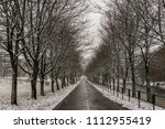 winter landscape with road... | Shutterstock . vector #1112955419