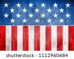 usa flag background grunge style | Shutterstock . vector #1112960684
