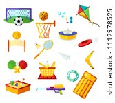 kids activities. elements flat... | Shutterstock .eps vector #1112978525