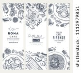 italian food vertical banner... | Shutterstock .eps vector #1112979851