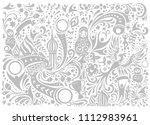 russian grey wallpaper... | Shutterstock .eps vector #1112983961