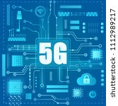5g internet connection.... | Shutterstock .eps vector #1112989217