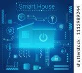 smart home modern absract light ... | Shutterstock .eps vector #1112989244