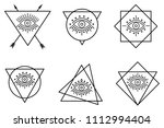 all seeing eyes in different... | Shutterstock .eps vector #1112994404