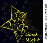 good night and sweet dreams... | Shutterstock .eps vector #1112995505