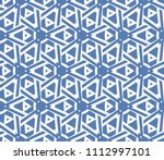 seamless pattern with symmetric ... | Shutterstock .eps vector #1112997101