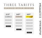 price list  three tariffs for...