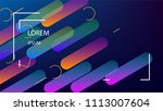 colorful background with simple ... | Shutterstock .eps vector #1113007604