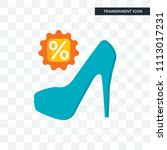 high heels vector icon isolated ... | Shutterstock .eps vector #1113017231