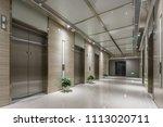 elevator room in modern office... | Shutterstock . vector #1113020711