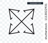 expand vector icon isolated on...