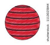 exercise ball isolated scribble   Shutterstock .eps vector #1113025844