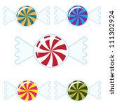 five colorful candies | Shutterstock .eps vector #111302924