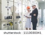 engineers are checking the... | Shutterstock . vector #1113030341