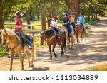 family of four   two children ... | Shutterstock . vector #1113034889