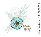 bouquet. flower  leaves hand... | Shutterstock .eps vector #1113053051