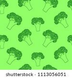 broccoli.seamless  pattern... | Shutterstock .eps vector #1113056051