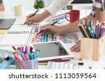 team of creative designers... | Shutterstock . vector #1113059564