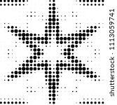 grunge halftone black and white ... | Shutterstock . vector #1113059741