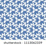 seamless pattern with symmetric ... | Shutterstock .eps vector #1113062339