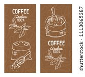 coffee labels set isolated on... | Shutterstock .eps vector #1113065387