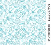 seamless pattern of various... | Shutterstock .eps vector #1113067901