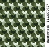 seamless camouflage in simple... | Shutterstock .eps vector #1113070727