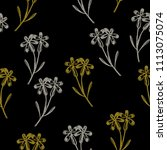seamless floral pattern with... | Shutterstock .eps vector #1113075074