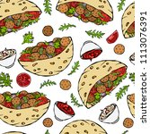 seamless endless pattern with... | Shutterstock .eps vector #1113076391