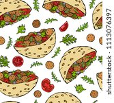 seamless endless pattern with... | Shutterstock .eps vector #1113076397