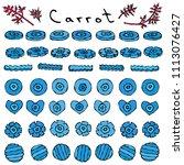 strange crazy blue carrots.... | Shutterstock .eps vector #1113076427