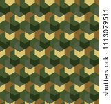 seamless camouflage in simple... | Shutterstock .eps vector #1113079511