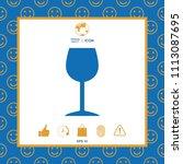 wineglass icon symbol | Shutterstock .eps vector #1113087695