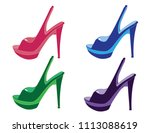 woman shoes vectors | Shutterstock .eps vector #1113088619