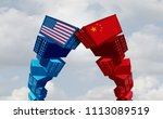 us china trade war and united... | Shutterstock . vector #1113089519